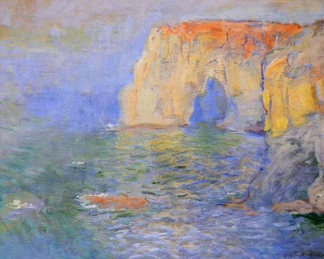 1885c E_tretat, The Cliff, Reflections on Water oil on canvas 65.8 x 81.5 cm Muse_e d'Orsay, Paris